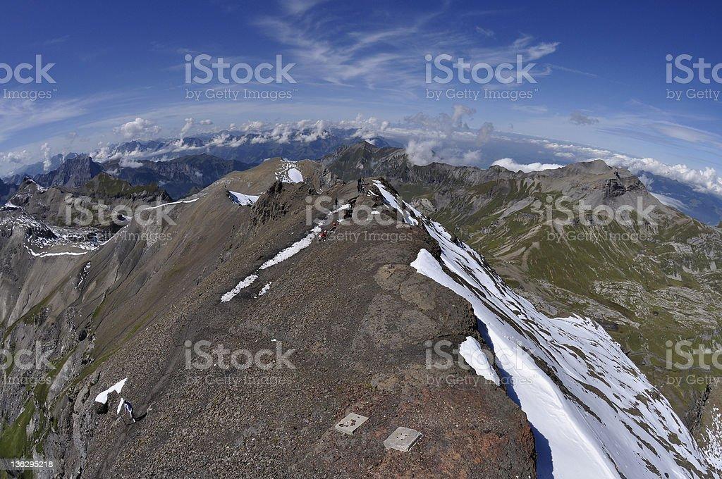 Edge of mountain, Switzerland royalty-free stock photo
