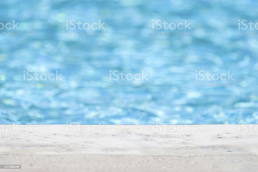 Edge of pool stock photo