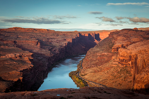 Views from slick rock trail, Utah.