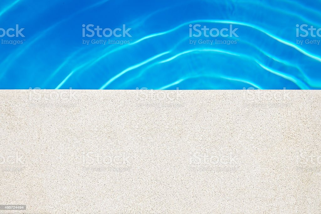 Edge Of Swimming Pool stock photo