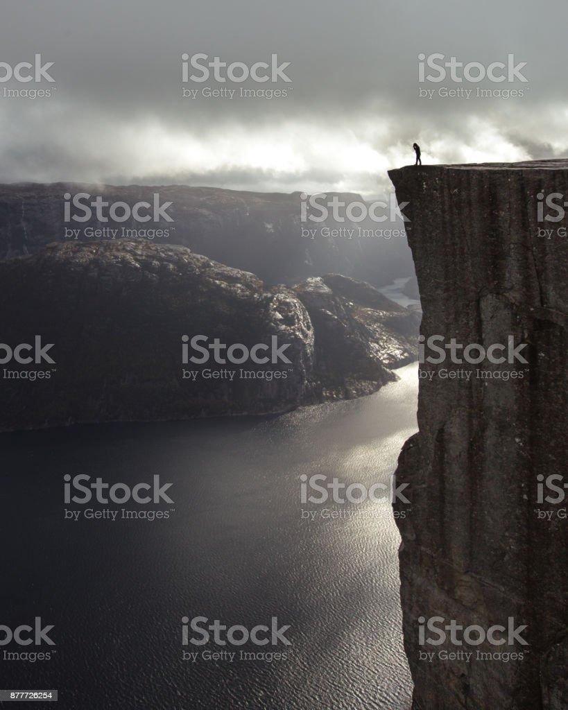 Edge of the cliff stock photo