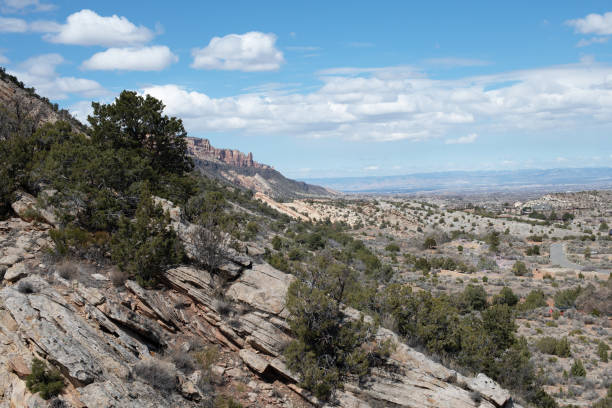 Edge of the Colorado National Monument stock photo