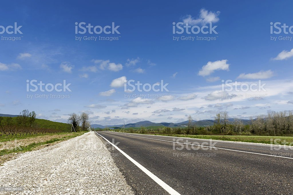 Edge Of The Road royalty-free stock photo