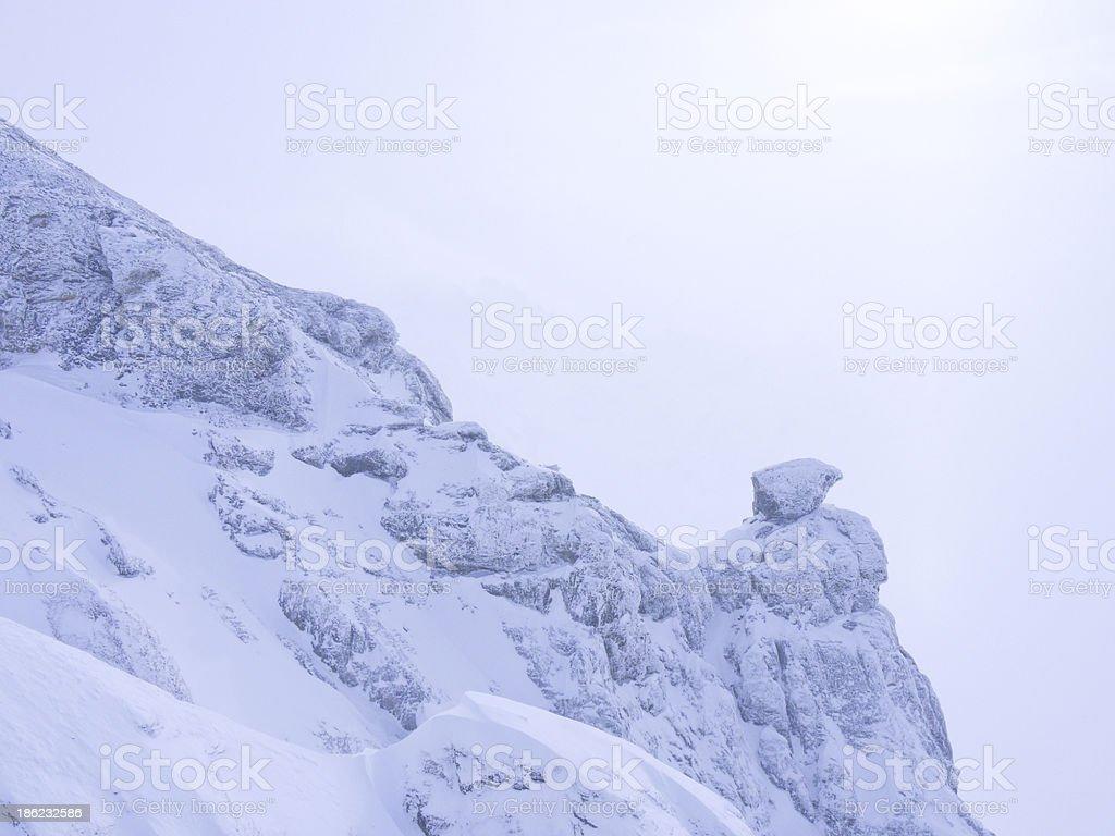 edge of the snow mountain royalty-free stock photo