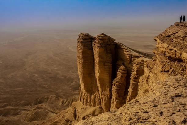 Edge of the World, a popular tourist destination near Riyadh stock photo