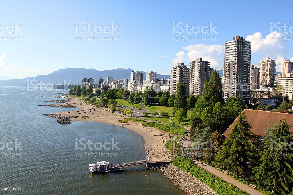 Edge of Vancouver stock photo