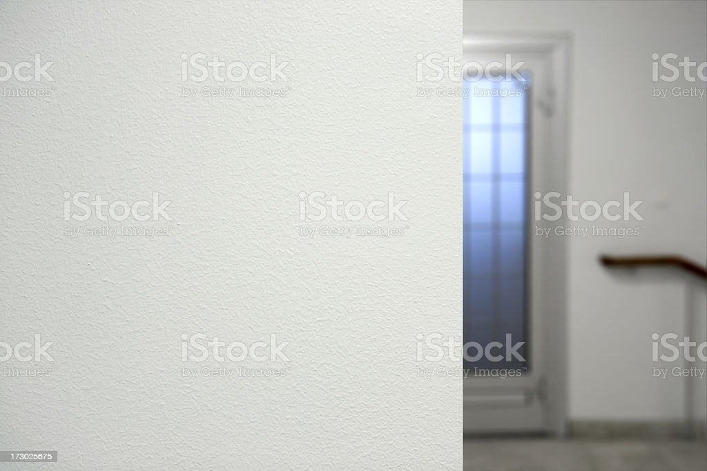 Edge of wall stock photo