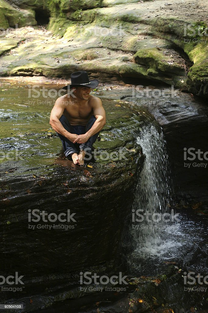 Edge of Waterfall royalty-free stock photo