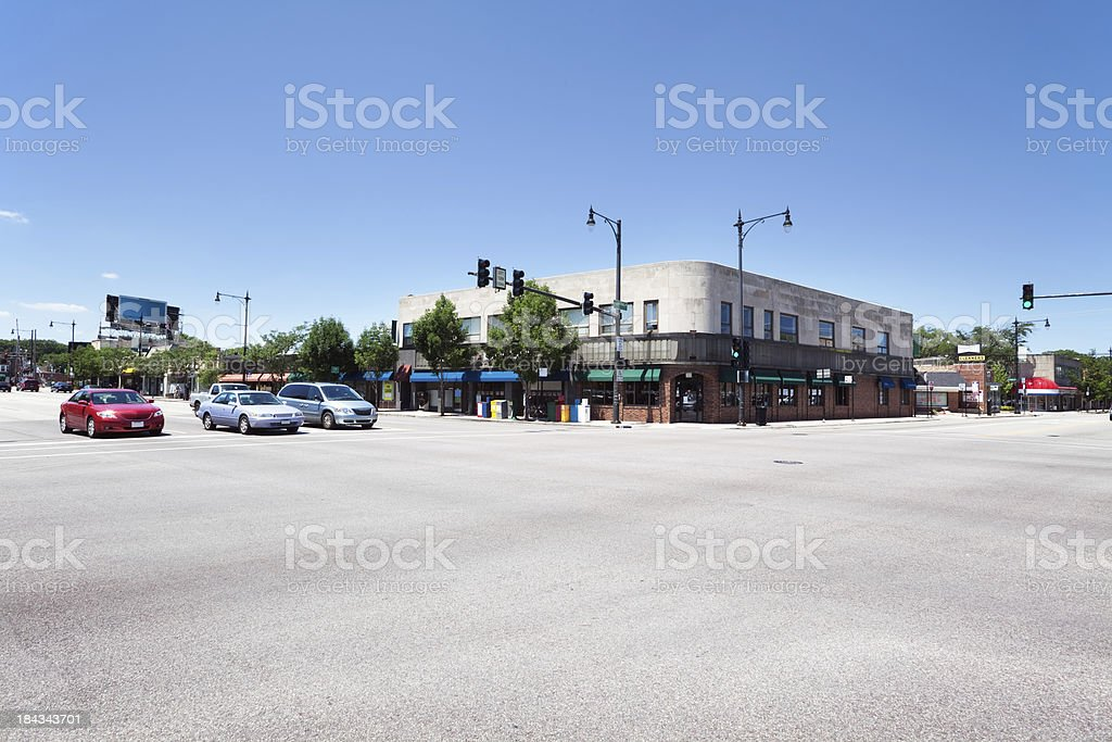 Edgebrook neighborhood of Forest Glen, Chicago royalty-free stock photo
