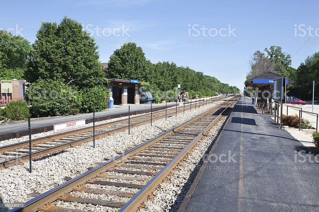 Edgebrook Station in Forest Glen, Chicago royalty-free stock photo