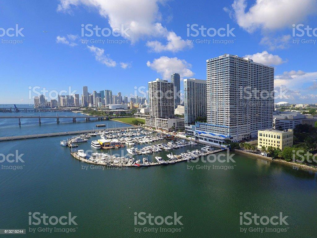 Edgewater Miami aerial photo stock photo