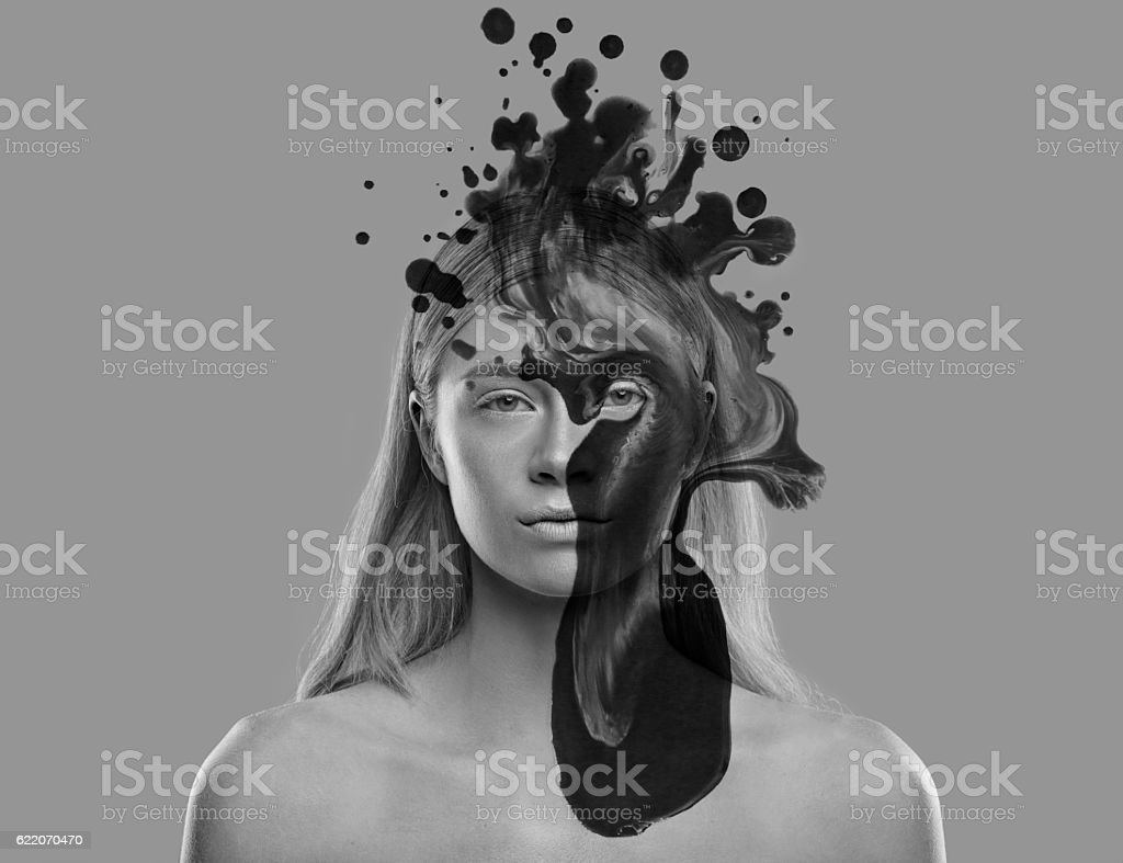 Edgy expressions of beauty stock photo