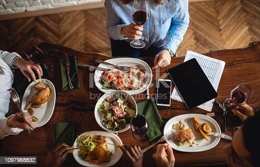 Table full of restaurant specialties