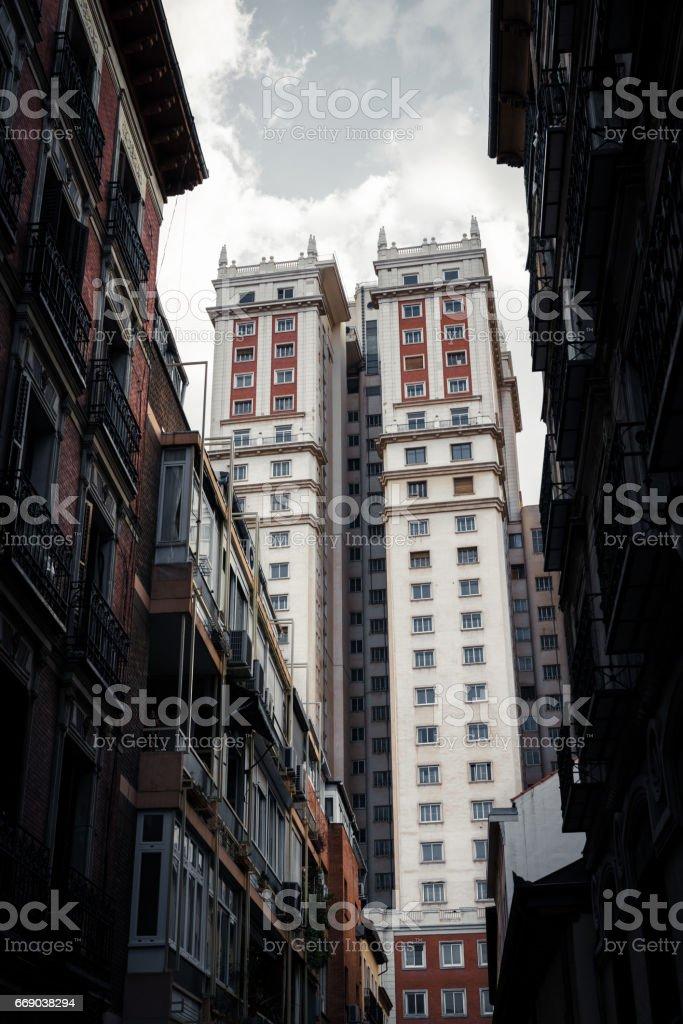 Edificio España art deco skyscraper in Plaza de España stock photo