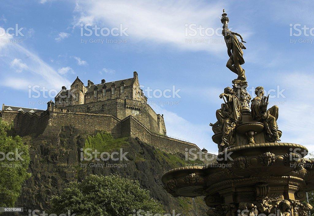Edinbrugh Castle royalty-free stock photo