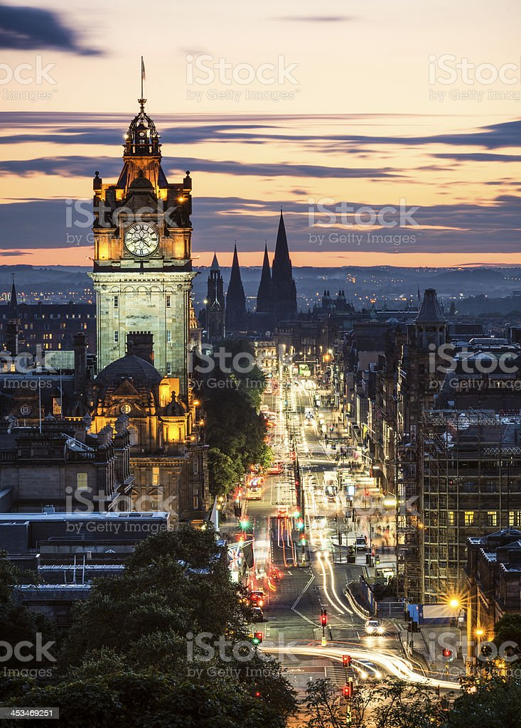 Edinburgh After Sunset stock photo
