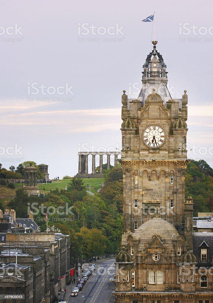 Edinburgh Calton Hill stock photo