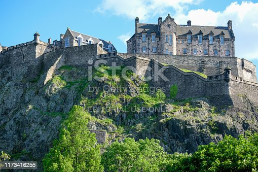 6th June 2019: Edinburgh Castle, located on Castle rock, in the centre of the city. The castle is one of the oldest fortified sites in Europe and has been a location of a royal residence dating back to the 12th century. It is looked after by Historic Scotland and is one of Scotlands top visitor attractions. The British Army have responsibility for some parts of the castle, mainly for ceremonial and administrative duties, and with regimental museums. The volcanic rock on which the castle stands dates back 350 million years to the Paleozoic era.