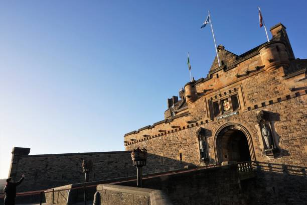 Edinburgh Castle, Entrance stock photo