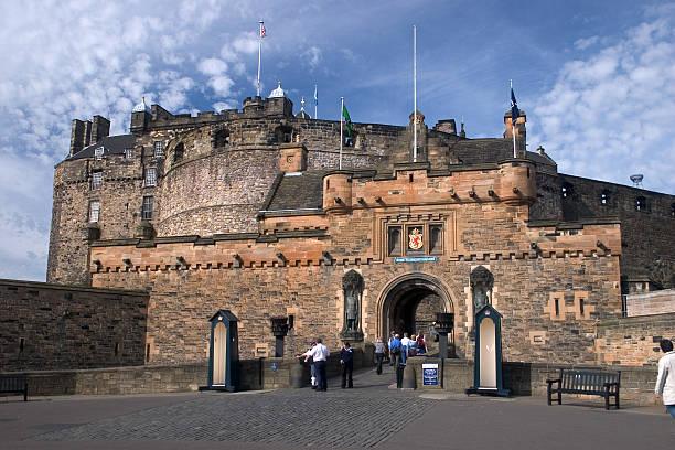 Edinburgh Castle from the Esplanade stock photo