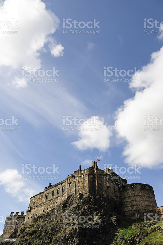 Edinburgh Castle from the South royalty-free stock photo