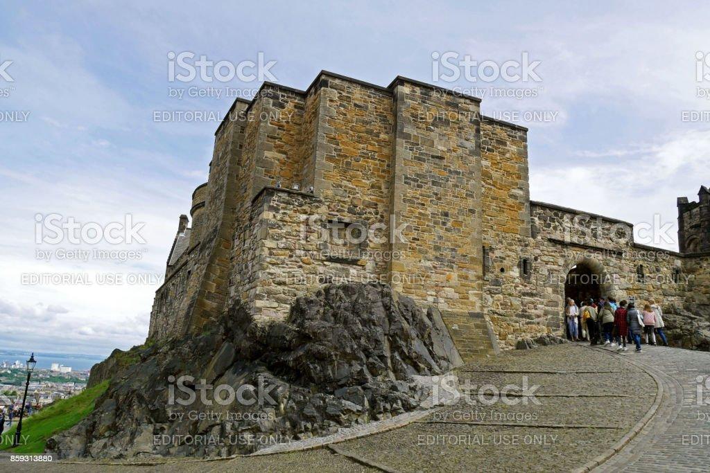 Edinburgh Castle in Edinburgh, Scotland, UK. stock photo