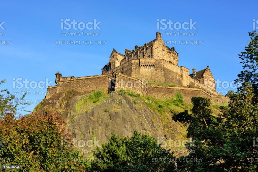 Edinburgh Castle on its Rock, Edinburgh, Scotland stock photo