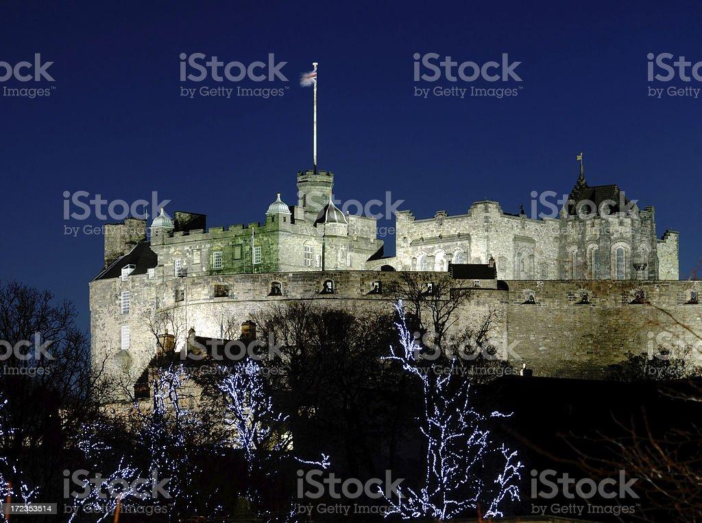 Edinburgh Castle on Winter Night royalty-free stock photo