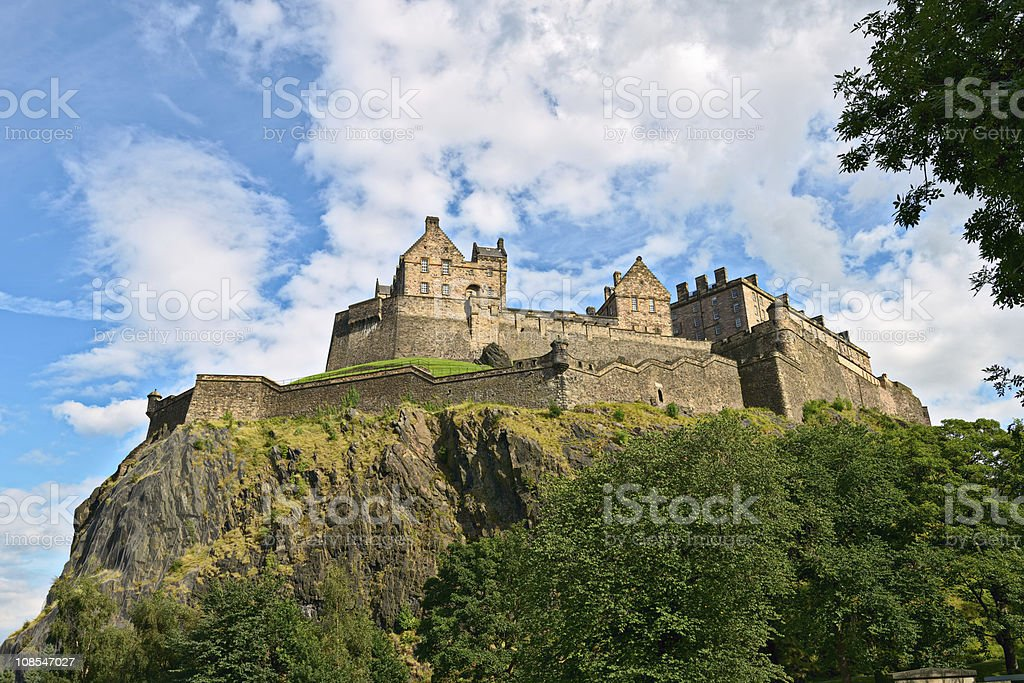 Edinburgh Castle, Scotland, from the west royalty-free stock photo