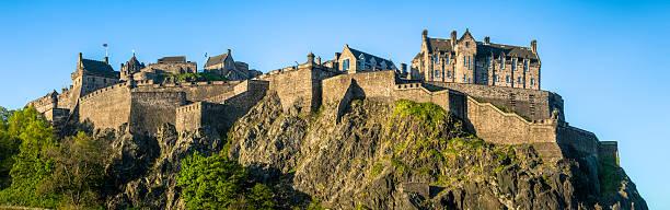 Edinburgh Castle Sunrise stock photo