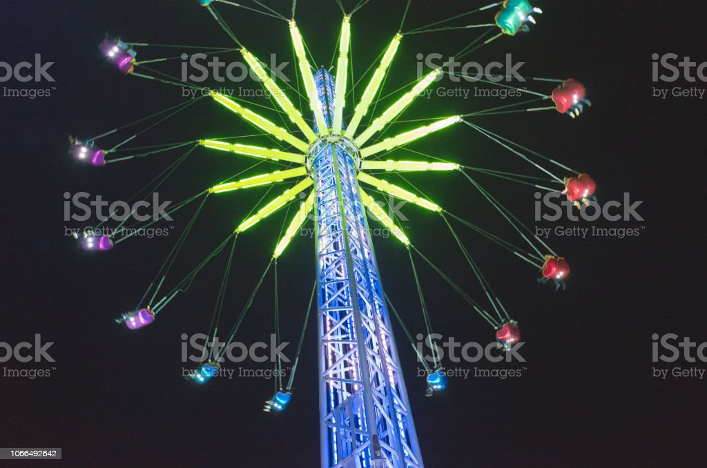 Edinburgh Christmas and New Year Attractions at Night stock photo