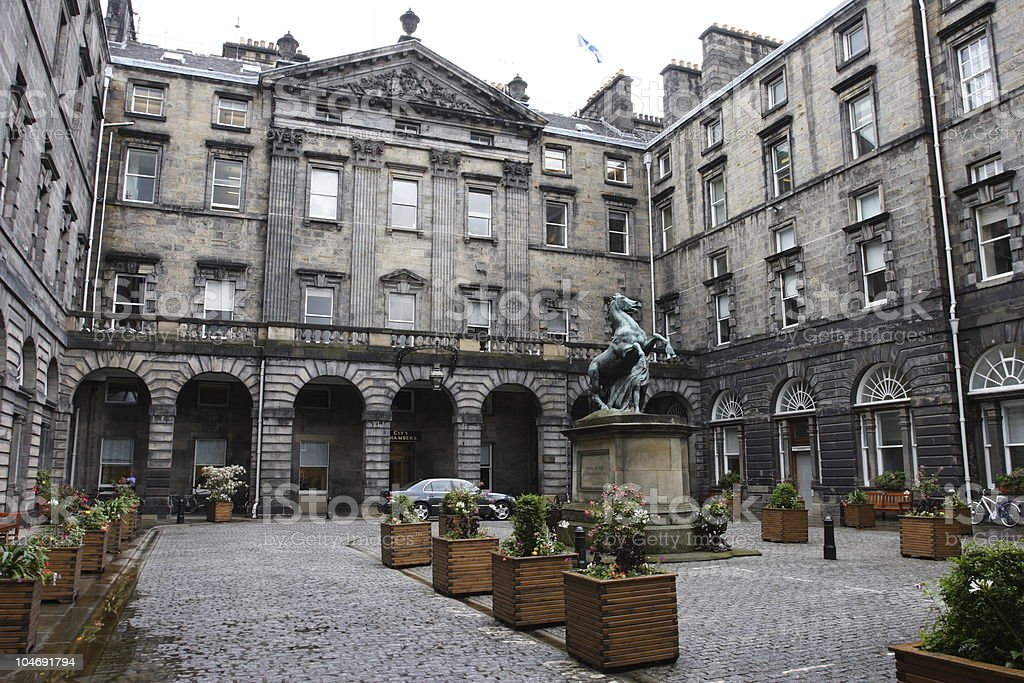 Edinburgh City Chambers stock photo