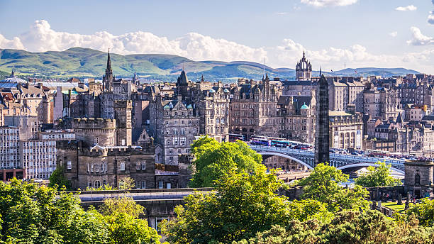 Edinburgh city from Calton Hill. – Foto