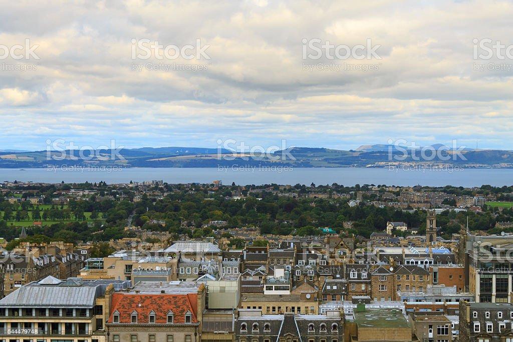 Edinburgh city panorama stock photo