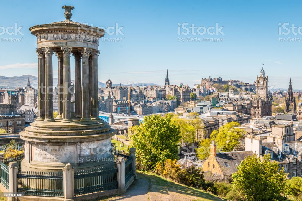 Edinburgh city stock photo