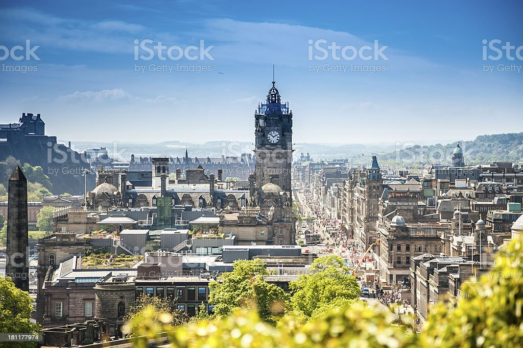Edinburgh city, Scotland stock photo