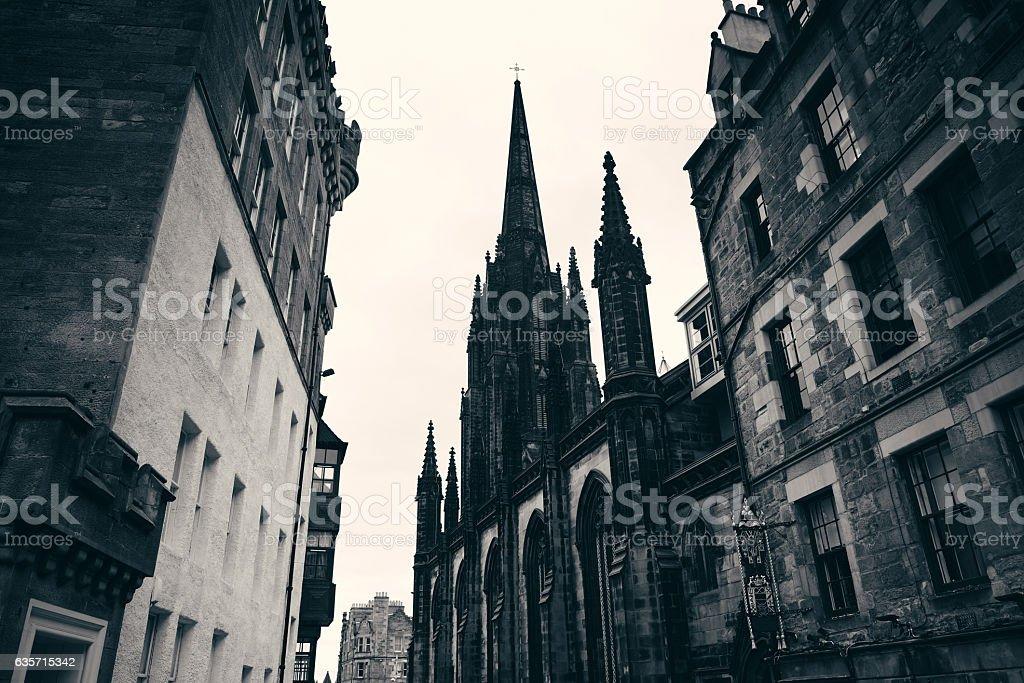 Edinburgh city street royalty-free stock photo