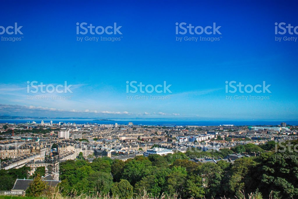 Edinburgh City View, Scotland stock photo