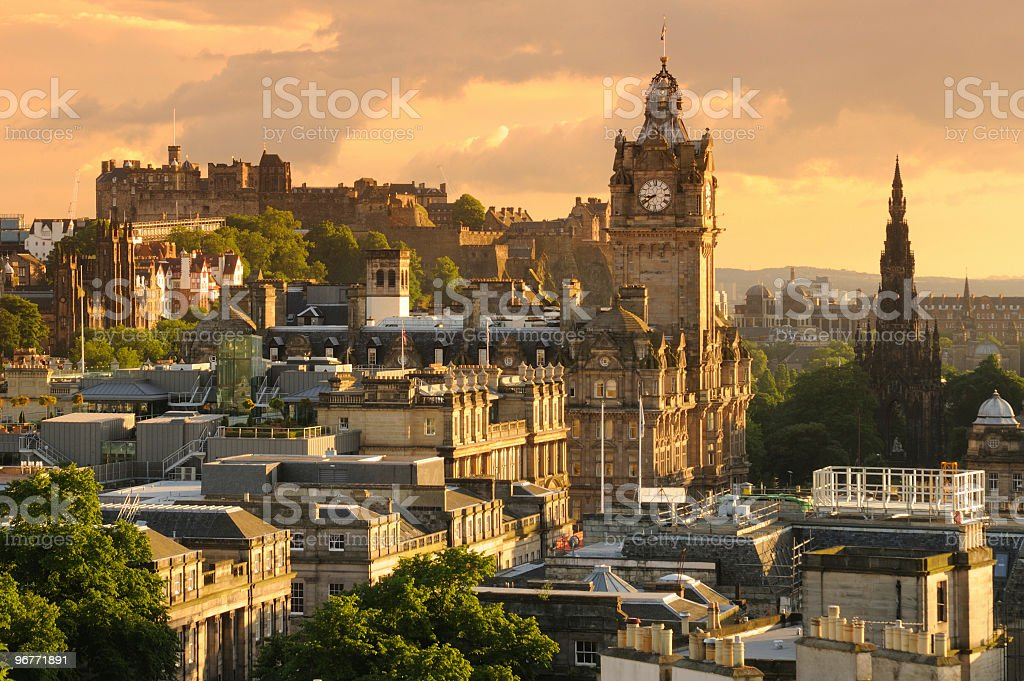 Edinburgh Cityscape stock photo