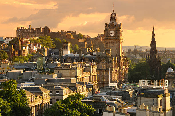 Edinburgh Cityscape  princes street edinburgh stock pictures, royalty-free photos & images