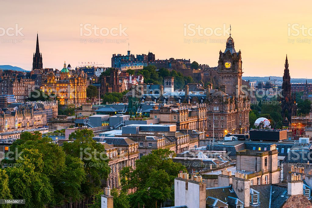Edinburgh Cityscape, Scotland stock photo