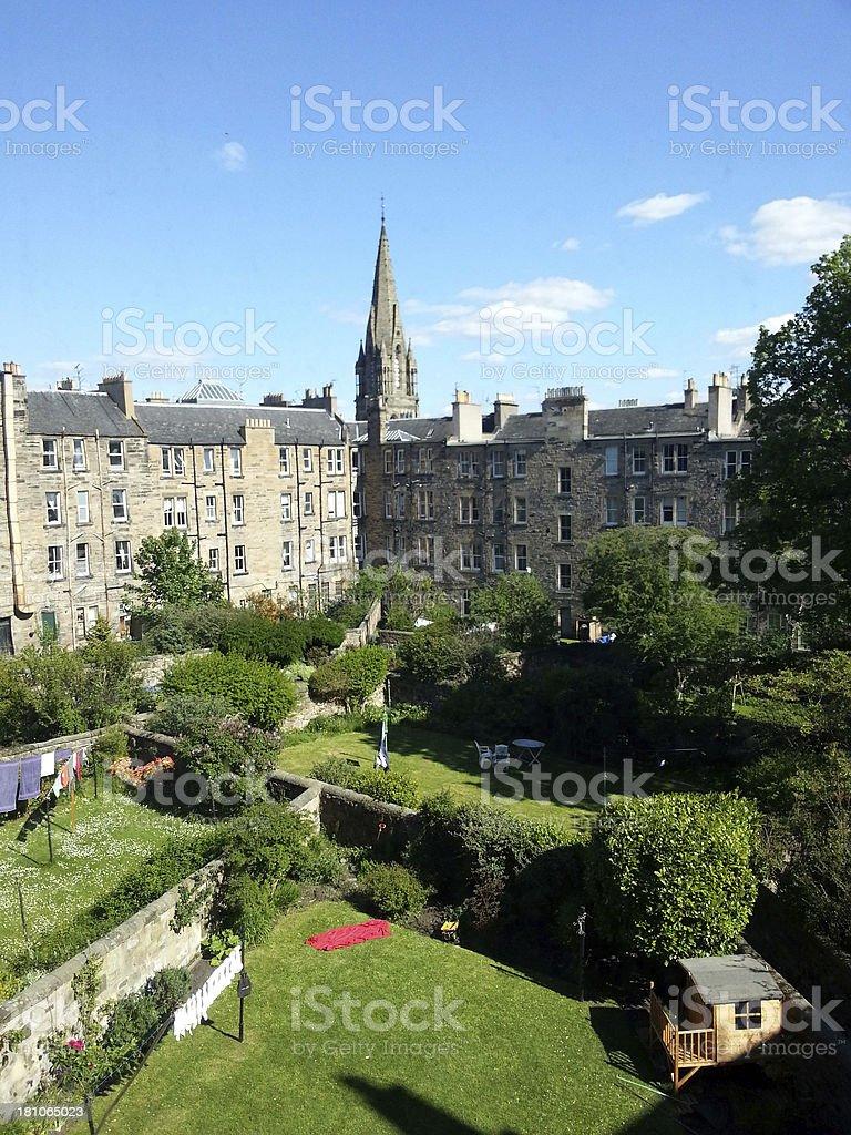 Edinburgh Courtyard royalty-free stock photo