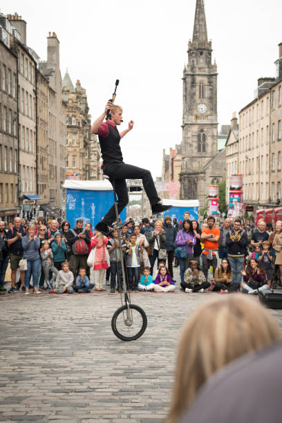 Edinburgh Festival Fringe Street Performer stock photo