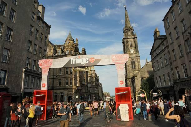 Edinburgh Fringe, Publicity and signage stock photo