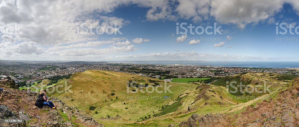Edinburgh from Arthur's Seat royalty-free stock photo