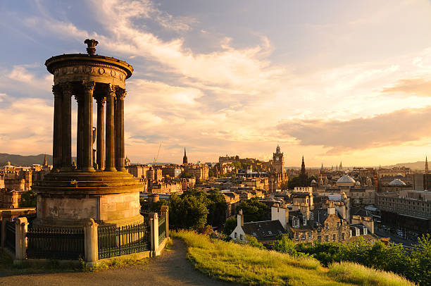Edinburgh from Calton Hill  edinburgh scotland stock pictures, royalty-free photos & images