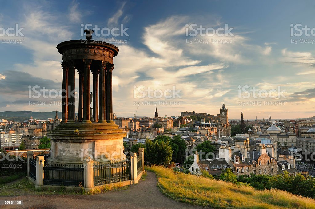 Edinburgh from Calton Hill royalty-free stock photo