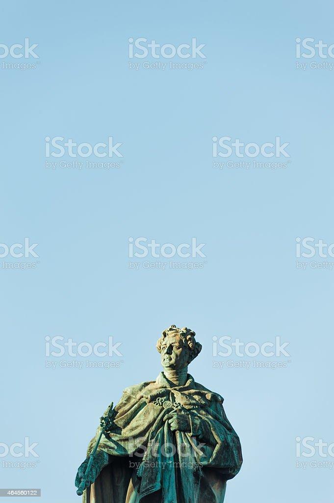 Edinburgh: George IV statue in George Street stock photo