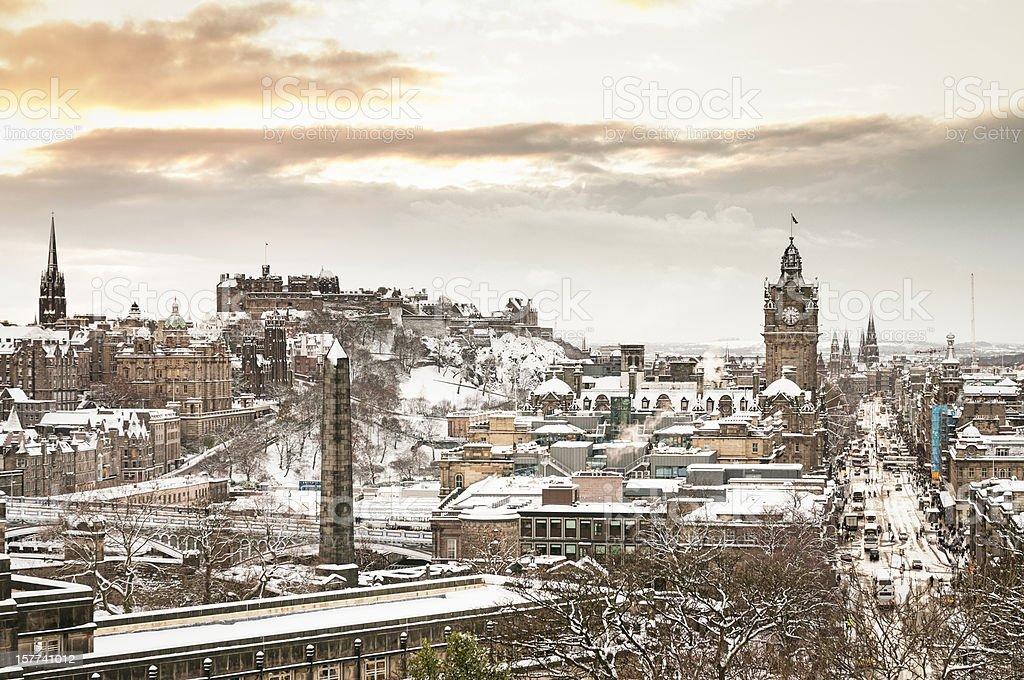 Edinburgh in Winter stock photo