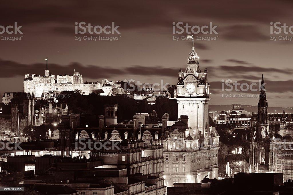 Edinburgh night royalty-free stock photo